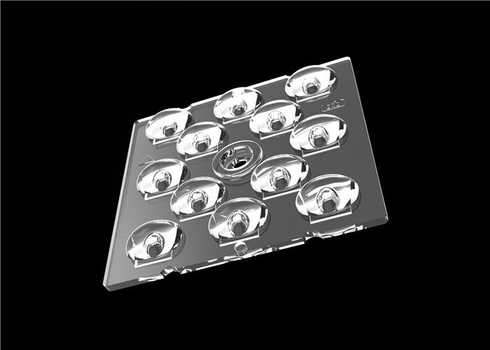 3030 SMD Wide Angle LED Lens , Optical Square LED Lens For Outdoor Lighting